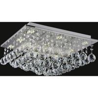 CWI Lighting 5052C16C-S Sparkle 6 Light 16 inch Chrome Flush Mount Ceiling Light