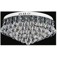 CWI Lighting 5052C20C-R Sparkle 9 Light 20 inch Chrome Flush Mount Ceiling Light