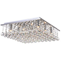 CWI Lighting 5052C20C-S Sparkle 9 Light 20 inch Chrome Flush Mount Ceiling Light