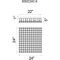 CWI Lighting 5052C24C-S Sparkle 12 Light 24 inch Chrome Flush Mount Ceiling Light