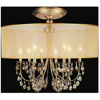 CWI Lighting 5061C28GB Halo 8 Light 28 inch French Gold Flush Mount Ceiling Light