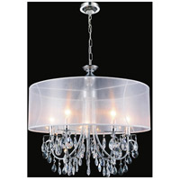 CWI Lighting 5061P28C-W Halo 8 Light 28 inch Chrome Chandelier Ceiling Light