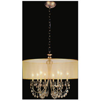 CWI Lighting 5061P28GB Halo 8 Light 28 inch French Gold Chandelier Ceiling Light