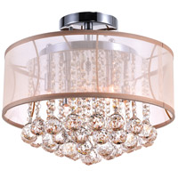 CWI Lighting 5062C16C-(CHP-+-G) Radiant 6 Light 16 inch Chrome Flush Mount Ceiling Light