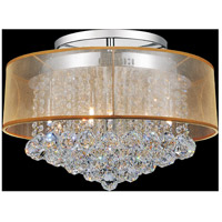 CWI Lighting 5062C20C-(CLEAR-+-G) Radiant 9 Light 20 inch Chrome Flush Mount Ceiling Light