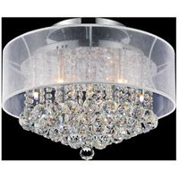 CWI Lighting 5062C20C-(CLEAR-+-W) Radiant 9 Light 20 inch Chrome Flush Mount Ceiling Light