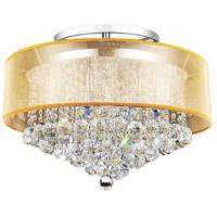 CWI Lighting 5062C24C-(CLEAR-+-G) Radiant 12 Light 24 inch Chrome Flush Mount Ceiling Light