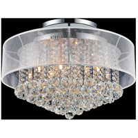 CWI Lighting 5062C24C-(CLEAR-+-W) Radiant 12 Light 24 inch Chrome Flush Mount Ceiling Light