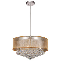 CWI Lighting 5062P20C-(CLEAR-+-G) Radiant 9 Light 20 inch Chrome Chandelier Ceiling Light