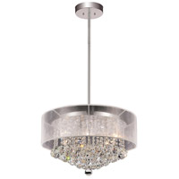 CWI Lighting 5062P20C-(CLEAR-+-W) Radiant 9 Light 20 inch Chrome Chandelier Ceiling Light