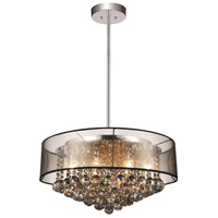 CWI Lighting 5062P20C-(SMOKE-+-BK) Radiant 9 Light 20 inch Chrome Chandelier Ceiling Light