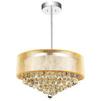 CWI Lighting 5062P24C-(CHP-+-G) Radiant 12 Light 24 inch Chrome Chandelier Ceiling Light
