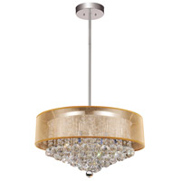 CWI Lighting 5062P24C-(CLEAR-+-G) Radiant 12 Light 24 inch Chrome Chandelier Ceiling Light