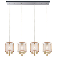 CWI Lighting 5062P33C-4-(CHP-+-G) Radiant 4 Light 33 inch Chrome Chandelier Ceiling Light