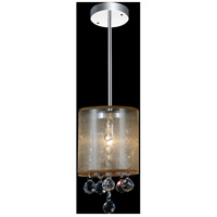 CWI Lighting 5062P6C-1-(CLEAR-+-G) Radiant 1 Light 6 inch Chrome Pendant Ceiling Light