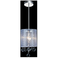 CWI Lighting 5062P6C-1-(CLEAR-+-W) Radiant 1 Light 6 inch Chrome Pendant Ceiling Light