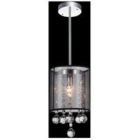 CWI Lighting 5062P6C-1-(SMOKE-+-B) Radiant 1 Light 6 inch Chrome Pendant Ceiling Light