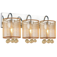 CWI Lighting 5062W18C-3-(CHP-+-G) Radiant 3 Light 18 inch Chrome Wall Sconce Wall Light