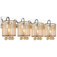 CWI Lighting 5062W24C-4-(CHP-+-G) Radiant 4 Light 24 inch Chrome Wall Sconce Wall Light
