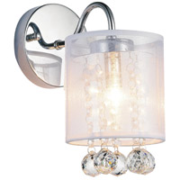 CWI Lighting 5062W5C-1-(CLEAR-+-W) Radiant 1 Light 5 inch Chrome Wall Sconce Wall Light