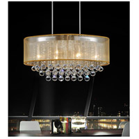 CWI Lighting 5063P26C-(CLEAR-+-G) Radiant 6 Light 26 inch Chrome Chandelier Ceiling Light