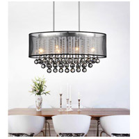 CWI Lighting 5063P26C-(SMOKE+-B) Radiant 6 Light 26 inch Chrome Chandelier Ceiling Light