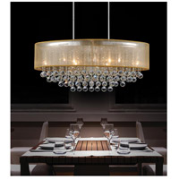 CWI Lighting 5063P36C-(CLEAR+-G) Radiant 9 Light 36 inch Chrome Chandelier Ceiling Light