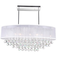 CWI Lighting 5063P36C-(CLEAR+-W) Radiant 9 Light 36 inch Chrome Chandelier Ceiling Light