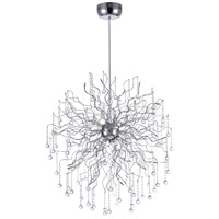 CWI Lighting 5066P35C Cherry Blossom 32 Light 35 inch Chrome Chandelier Ceiling Light