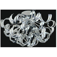 CWI Lighting 5067C22C Swivel 12 Light 22 inch Chrome Flush Mount Ceiling Light