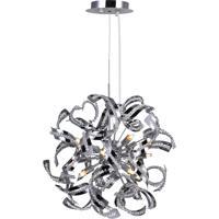 CWI Lighting 5067P19C Swivel 12 Light 19 inch Chrome Chandelier Ceiling Light