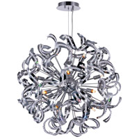 CWI Lighting 5067P22C Swivel 14 Light 22 inch Chrome Chandelier Ceiling Light