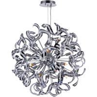 CWI Lighting 5067P29C Swivel 18 Light 29 inch Chrome Chandelier Ceiling Light