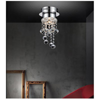CWI Lighting 5072C6C-R Monica 1 Light 6 inch Chrome Flush Mount Ceiling Light