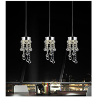 CWI Lighting 5072P20C-RC Monica 3 Light 20 inch Chrome Multi Light Pendant Ceiling Light