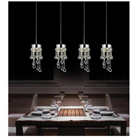 CWI Lighting 5072P28C-RC Monica 4 Light 28 inch Chrome Chandelier Ceiling Light