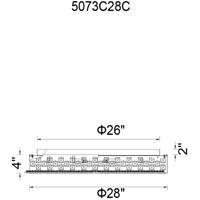 CWI Lighting 5073C28C Cinderella 12 Light 28 inch Chrome Flush Mount Ceiling Light