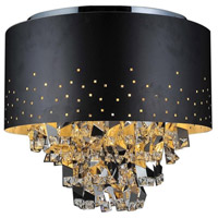 CWI Lighting Black Crystals Flush Mounts