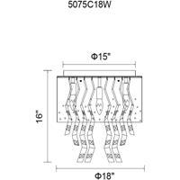 CWI Lighting 5075C18W Carmella 5 Light 18 inch White Drum Shade Flush Mount Ceiling Light