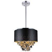 CWI Lighting 5075P16B Carmella 5 Light 16 inch Black Chandelier Ceiling Light