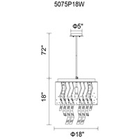 CWI Lighting 5075P18B Carmella 6 Light 18 inch Black Chandelier Ceiling Light