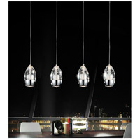CWI Lighting 5077P22C-RC Perrier 4 Light 22 inch Chrome Multi Light Pendant Ceiling Light