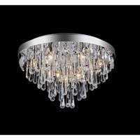 CWI Lighting 5078C24C Vast 10 Light 24 inch Chrome Flush Mount Ceiling Light