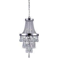 CWI Lighting 5078P12C Vast 3 Light 12 inch Chrome Chandelier Ceiling Light