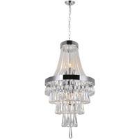 CWI Lighting 5078P16C Vast 6 Light 16 inch Chrome Chandelier Ceiling Light