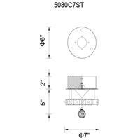 CWI Lighting 5080C7ST Ring LED 7 inch Chrome Flush Mount Ceiling Light
