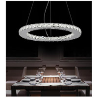 CWI Lighting 5080P20ST-R Ring LED 20 inch Chrome Chandelier Ceiling Light