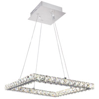 Ring LED 20 inch Chrome Chandelier Ceiling Light