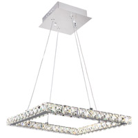 CWI Lighting 5080P20ST-S Ring LED 20 inch Chrome Chandelier Ceiling Light