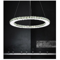 Ring LED 24 inch Chrome Chandelier Ceiling Light